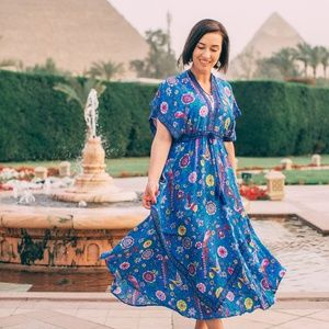 Dresses & Skirts - Summer Print Deep V Neck Cotton Beach Long Dresses